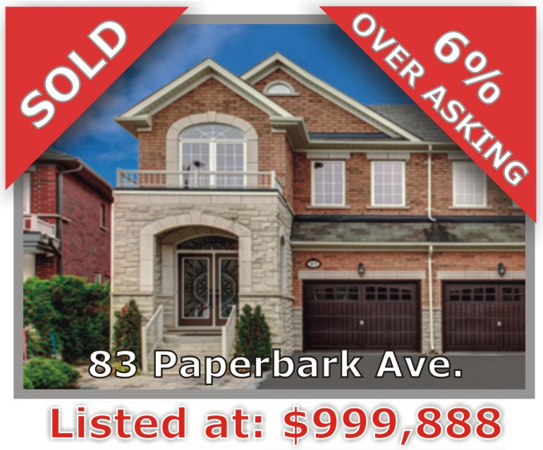 Main Photo: 83 Paperbark Avenue in Vaughan: Patterson Freehold for sale