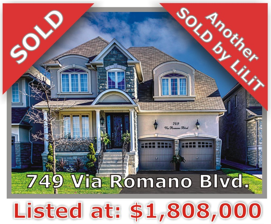 Main Photo: 749 Via Romano Blvd in Vaughan: Patterson Freehold for sale