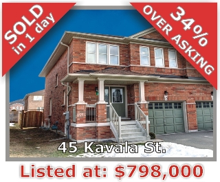 Main Photo: 45 Kavala St in Vaughan: Patterson Freehold for sale