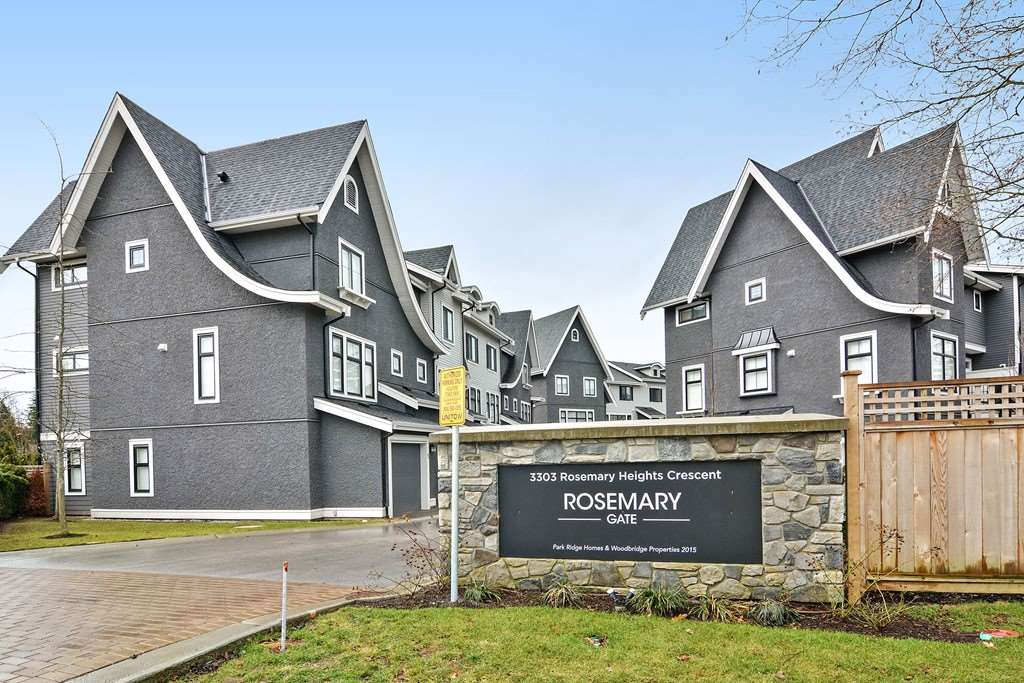 Main Photo: 7 3303 ROSEMARY HEIGHTS CRESCENT in Surrey: Morgan Creek Townhouse for sale (South Surrey White Rock)  : MLS®# R2139494