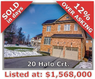 Main Photo: 20 Halo Crt in Vaughan: Patterson Freehold for sale