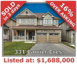 Main Photo: 331 Carrier Crescent in Vaughan: Patterson Freehold for sale