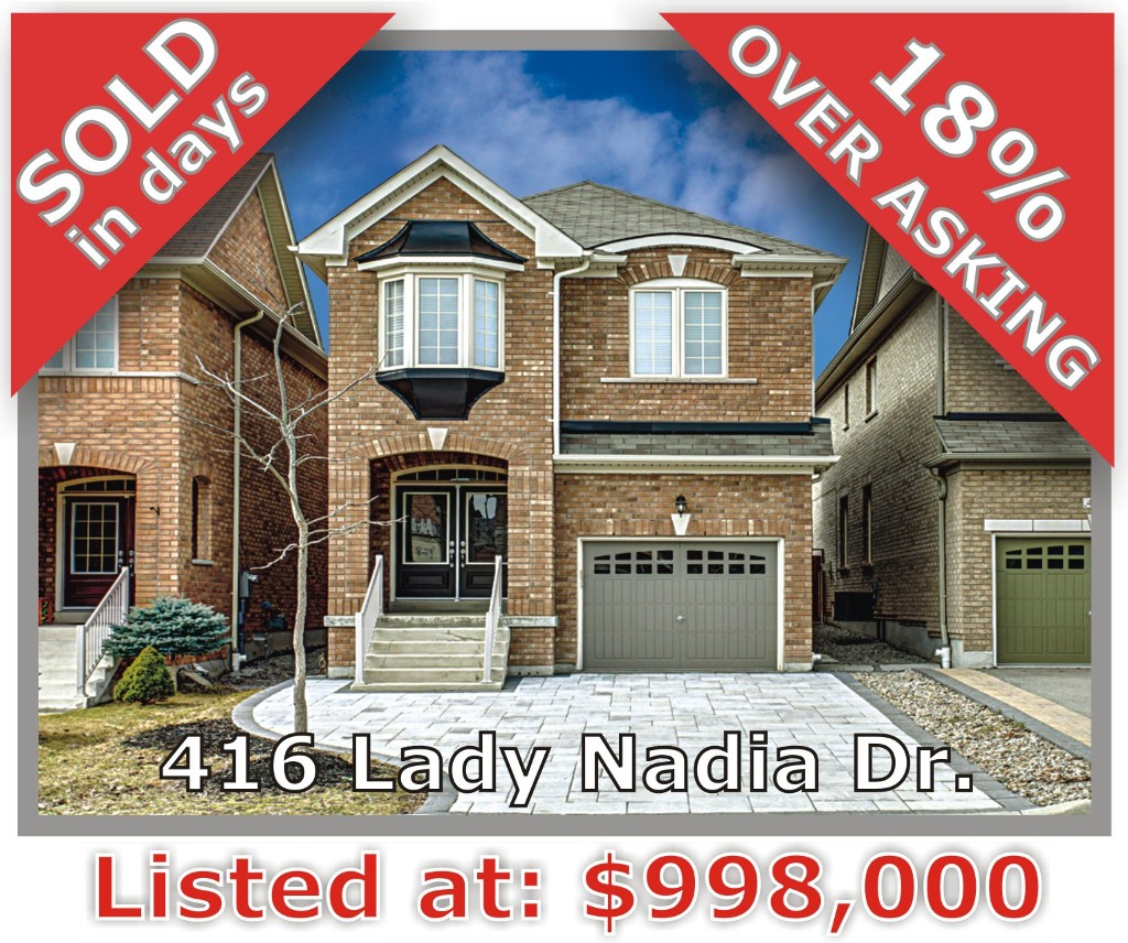 Main Photo: 416 Lady Nadia Dr in Vaughan: Patterson Freehold for sale