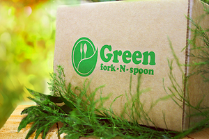 Green fork-N-spoon