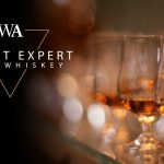 "Glasses of Irish whiskey with the words ""Instant Expert Irish Whiskey"" and Whisky Advocate logo."