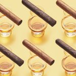 cigars rest on glencairn glasses