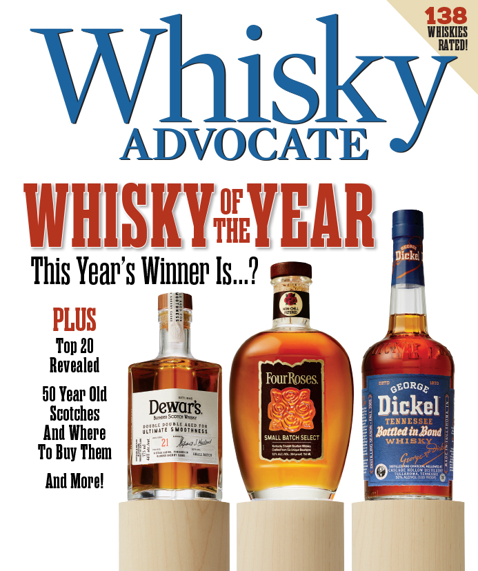 cover of whisky advocate magazine's winter 2019 issue