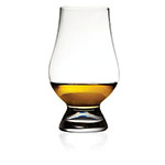 The Glencairn whisky glass is shown holding about an ounce of whisky.