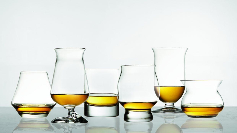 different whisky glasses