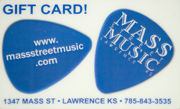 Mass Street Music $50 Gift Card