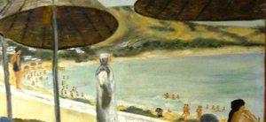Réligieuse sur la plage