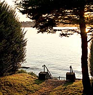 Steps to Cliff Walk near our Newport RI bed and breakfast