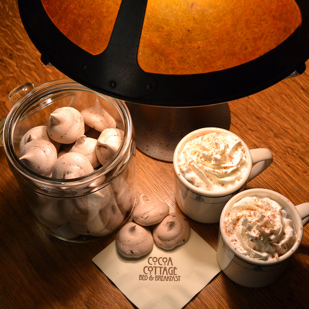 Hot Chocolate with Chocolate Chip Merengues