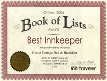 cocoa cottage bed and breakfast whitehall mi reviews awards