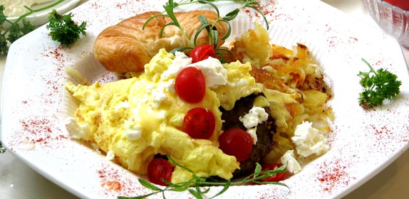 Breakfast Eggs at Island Cottage Oceanfront Inn and Spa, Flagler beach, Florida