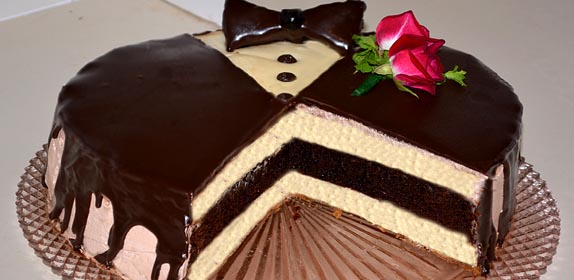 Tuxedo Cheesecake at Island Cottage Oceanfront Inn and Spa, Flagler beach, Florida