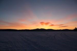 dawn on lake winnisquam