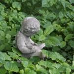 Book reading statue