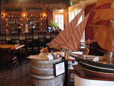 San Juan Island Restaurant Cask and Schooner at the bar