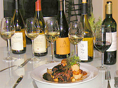 Wines and seafood-San Juan Island restaurant gourmet dining