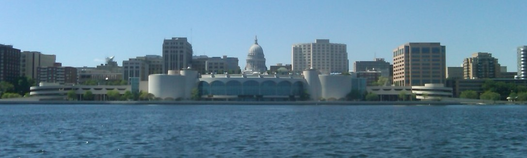 View of Madison from Lake Monona