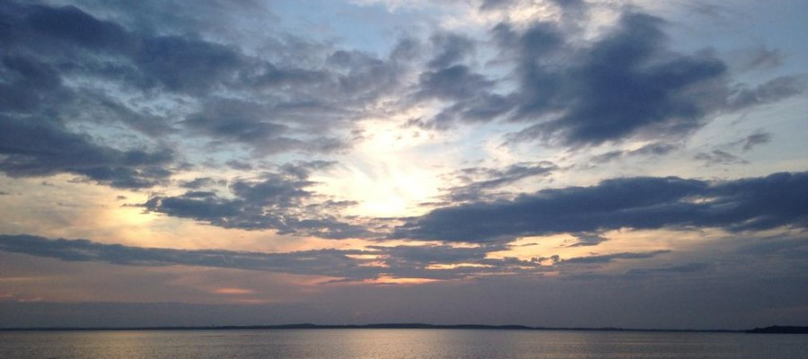 Sunset over Lake Mendota in Madison, WI
