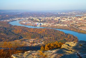Fall colors in Chattanooga, Tennessee