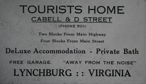 Card for the Cabell and D Street Tourist Home