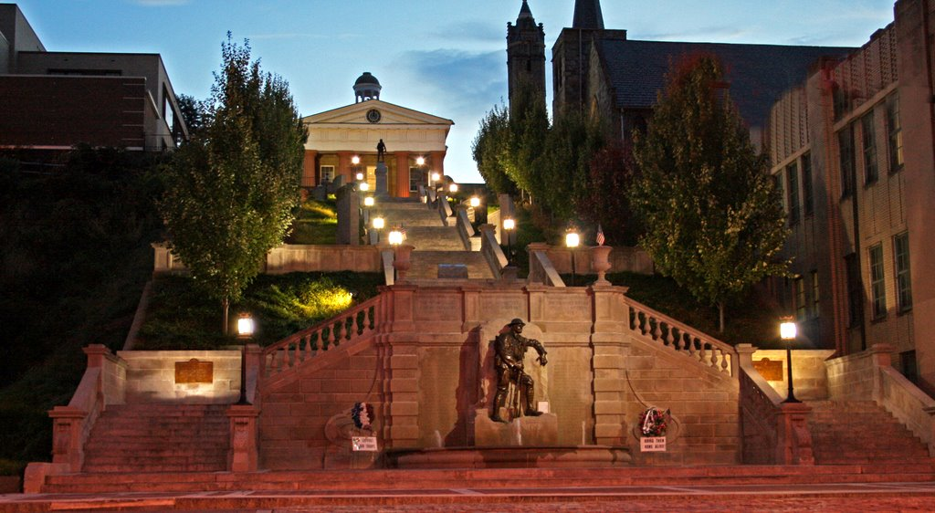 Monument Terrace at night