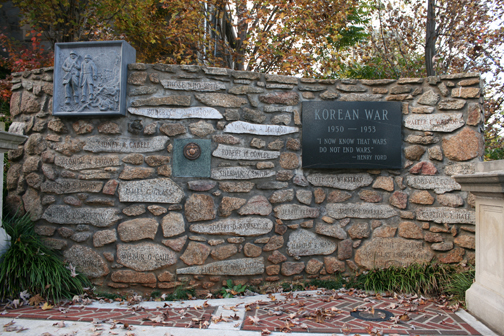 The Korean War Memorial at Monument Terrace