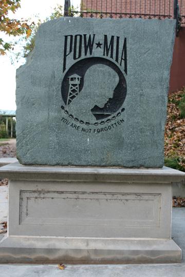 Tribute to the POW and MIA.