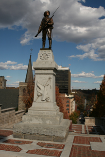 A memorial to those who served in the American Civil War.
