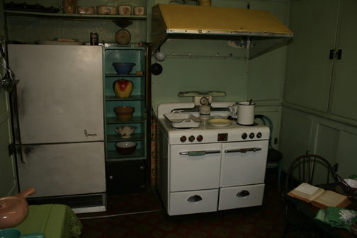 Kitchen in Anne Spencer's home