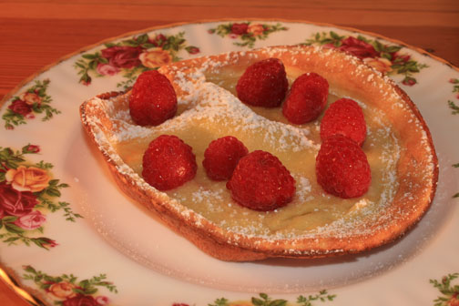 bed and breakfast recipe for Dutch baby pancake