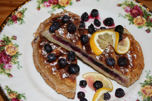 Blueberry panini recipe