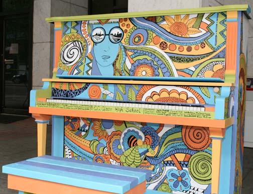 Piano on Main Street, Lynchburg, VA