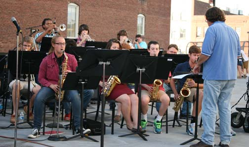 High School Band preforms at Get Downtown 2013