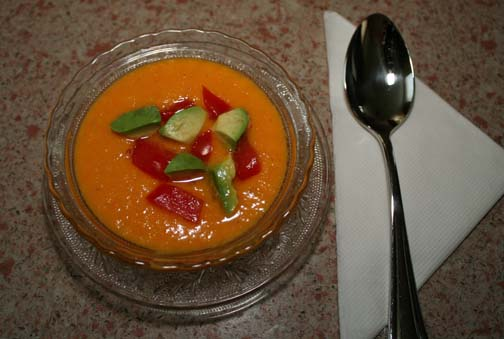 Cool and refreshing Golden Gazpacho