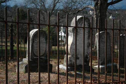 Gravestones at Old City Cemetery