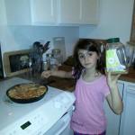 Tess cooking Tart Tatin