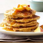 Stack of Peach Pancakes photo courtesy of bhg.com