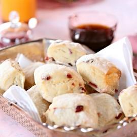 Warm scones