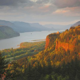 Looking at Crown Point and the Columbia River Gorge