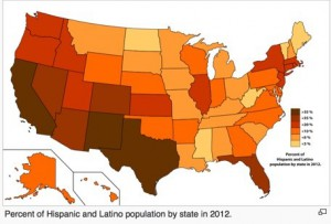 hispanic and latino population map