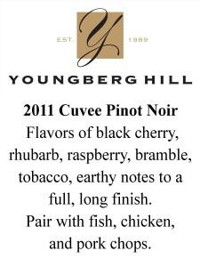 shelf talker 2011 YH Cuvee Pinot Noir