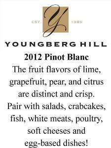 Shelf Talker- 2012 Pinot Blanc