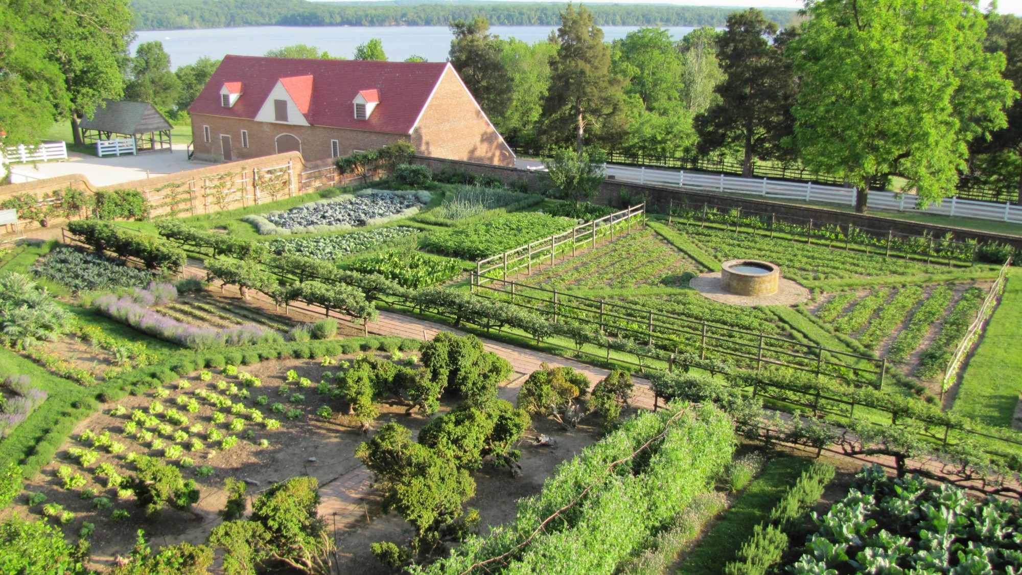 Terrace Kitchen Garden The Four Gardens At Mount Vernon A George Washingtons Mount Vernon