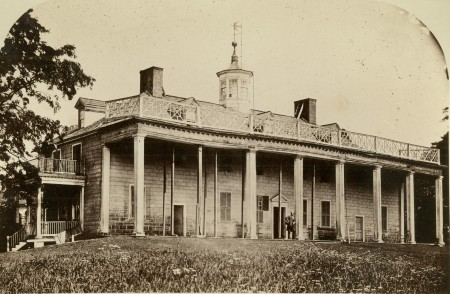 Early view of Mansion ca. 1858