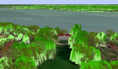 LIDAR of the Mount Vernon landscape