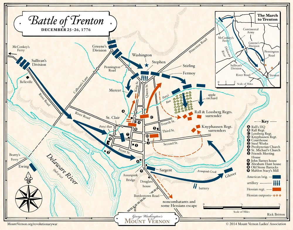 Battle of Trenton George Washingtons Mount Vernon